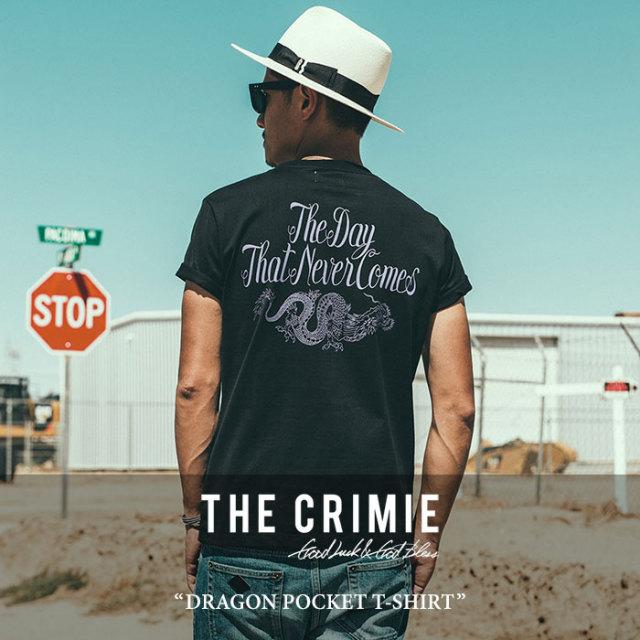 【SALE】 CRIMIE(クライミー) DRAGON POCKET T-SHIRT 【2018SPRING/SUMMER新作】 【即発送可能】 【C1H1-TE04】 【CRIMIE Tシ
