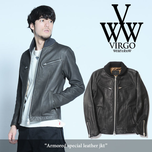【SALE30%OFF】 VIRGO(ヴァルゴ) Armored special leather jkt 【2017AUTUMN/WINTER新作】 【送料無料】【即発送可能】 【VG-JK