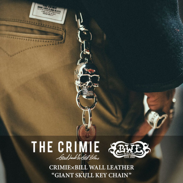 CRIMIE(クライミー) GIANT SKULL KEY CHAIN 【2017AUTUMN/WINTER先行予約】 【送料無料】【キャンセル不可】 【C1G5-CRBW-KC01C