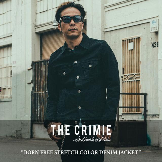 CRIMIE(クライミー) BORN FREE STRETCH COLOR DENIM JACKET 【2017AUTUMN/WINTER先行予約】 【送料無料】【キャンセル不可】 【C