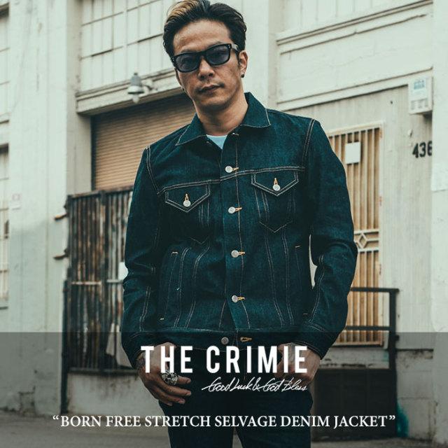 CRIMIE(クライミー) BORN FREE STRETCH SELVAGE DENIM JACKET 【2017AUTUMN/WINTER先行予約】 【送料無料】【キャンセル不可】