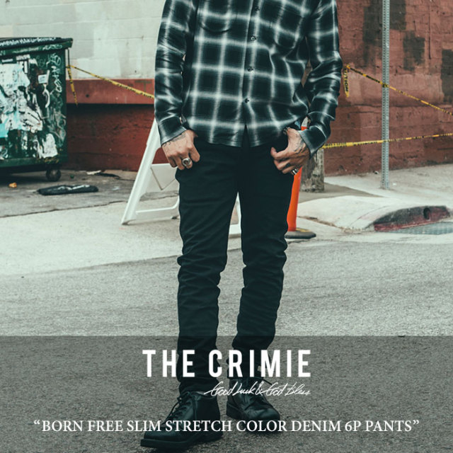 CRIMIE(クライミー) BORN FREE SLIM STRETCH COLOR DENIM 6P PANTS 【2017AUTUMN/WINTER先行予約】 【送料無料】【キャンセル不可