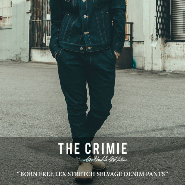 CRIMIE(クライミー) BORN FREE LEX STRETCH SELVAGE DENIM PANTS 【2017AUTUMN/WINTER先行予約】 【送料無料】【キャンセル不可】