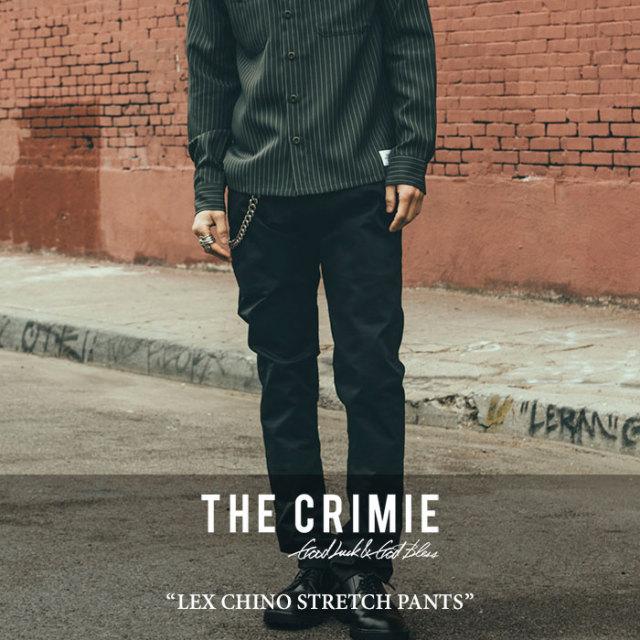 CRIMIE(クライミー) LEX CHINO STRETCH PANTS 【2017AUTUMN/WINTER先行予約】 【送料無料】【キャンセル不可】 【C1G5-CXLX-PT02