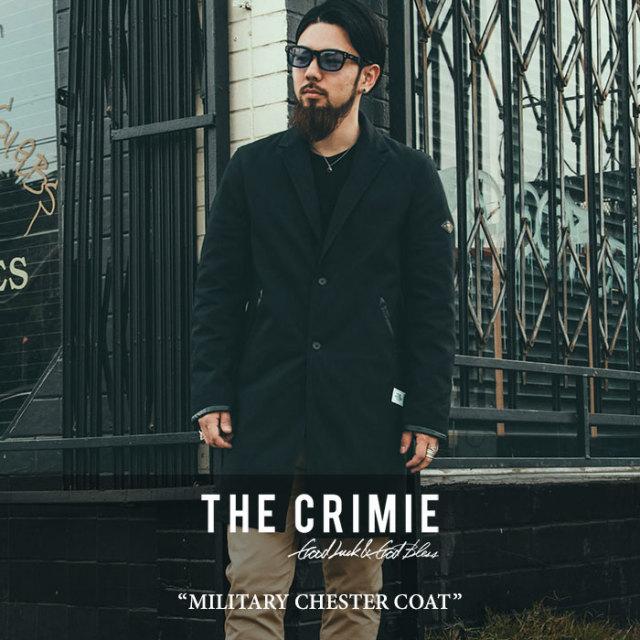 CRIMIE(クライミー) MILITARY CHESTER COAT 【2017AUTUMN/WINTER先行予約】 【送料無料】【キャンセル不可】 【C1G5-JK10】【CRI