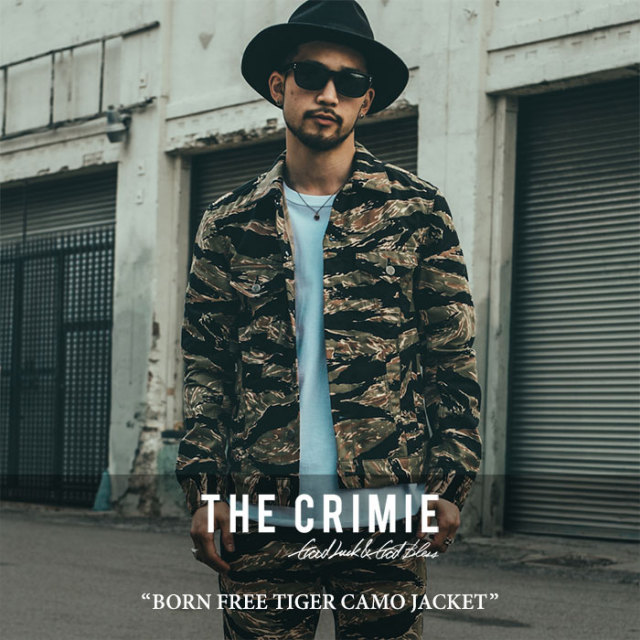 CRIMIE(クライミー) BORN FREE TIGER CAMO JACKET 【2017AUTUMN/WINTER先行予約】 【送料無料】【キャンセル不可】 【C1G5-JK42
