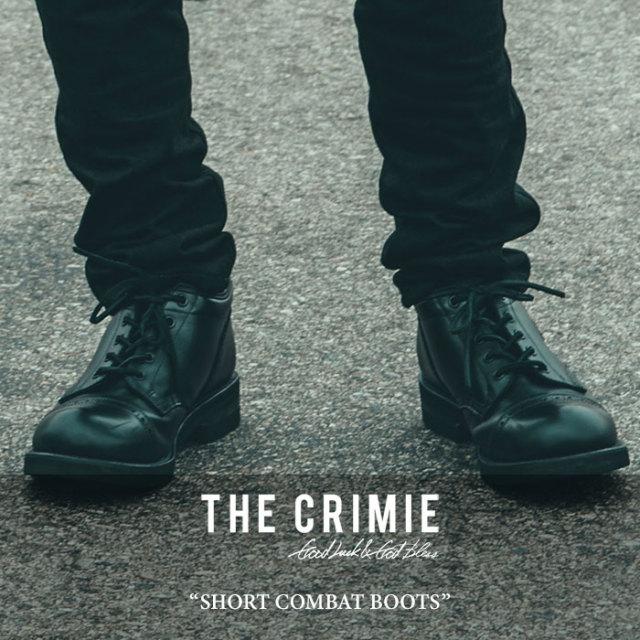 CRIMIE(クライミー) SHORT COMBAT BOOTS 【2017AUTUMN/WINTER新作】 【送料無料】【即発送可能】 【C1G5-SB02】 【CRIMIE コン