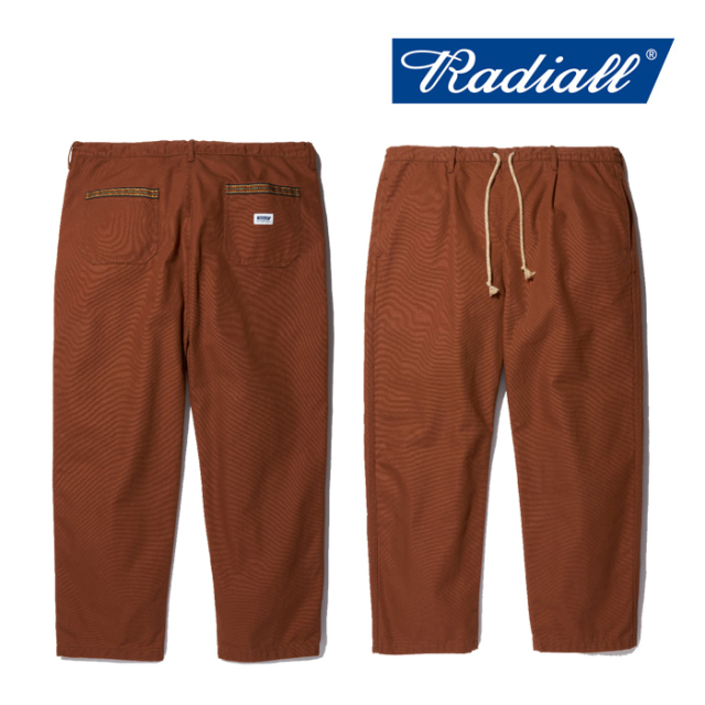 RADIALL(ラディアル) SUBERBAN- STRAIGHT FIT EASY PANTS 【2019AUTUMN&WINTER COLLECTION】 【RAD-19AW-PT006】【イージーパンツ