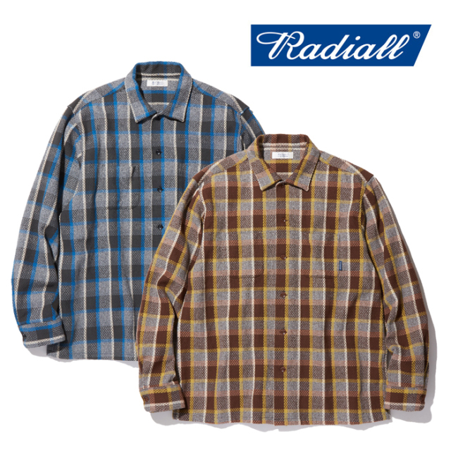 RADIALL(ラディアル) EL CAMINO COLLARED SHIRTS L/S 【チェックオープンカラーシャツ】【送料無料】 【2019AUTUMN&WINTER COLLEC