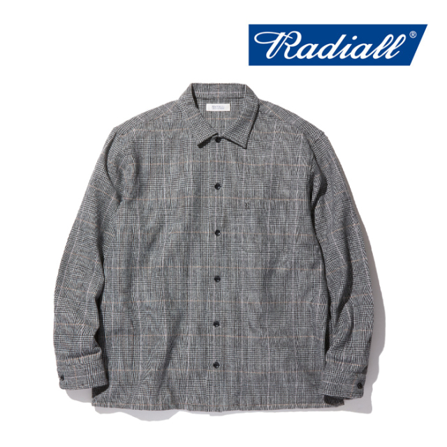 RADIALL(ラディアル) MOS - OPEN COLLARED SHIRT L/S 【2019 AUTUMN&WINTER COLLECTION】 【RAD-19AW-SH010】【オープンカラーシ