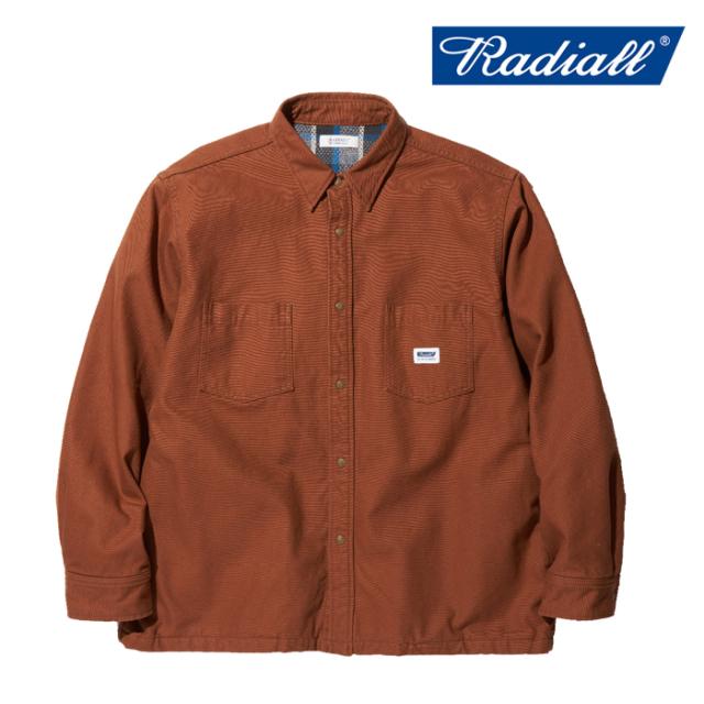 RADIALL(ラディアル) SUBURBAN - REGULAR COLLARED SHIRT L/S 【シャツジャケット シンプル 秋冬新作】【送料無料】【2019 AUTUMN&