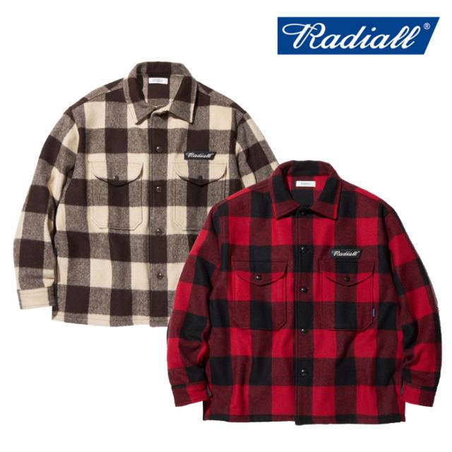 RADIALL(ラディアル) FLAGS - REGULAR COLLARED SHIRT L/S  【シャツジャケット バッファローチェック CPO】【送料無料】【2019 AU