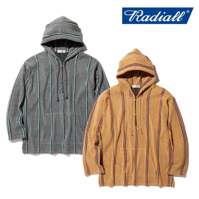 RADIALL(ラディアル) SKUNK - HOODIE SWEATSHIRT L/S 【バハパーカー】【RAD-20SS-CUT001】【2020 SPRING&SUMMER COLLECTION新作】