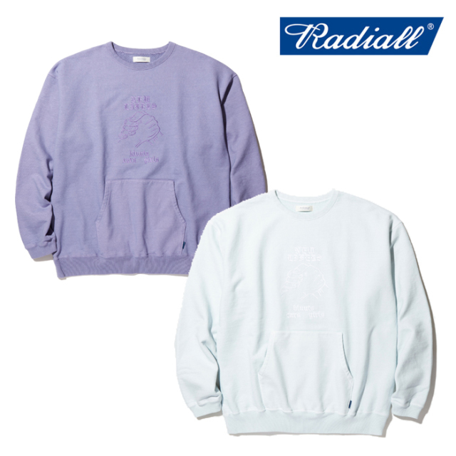 RADIALL(ラディアル) NEW LIFERS - CREW NECK SWEAT SHIRT L/S 【クルーネックスウェット】【2020 SPRING&SUMMER COLLECTION】【RA