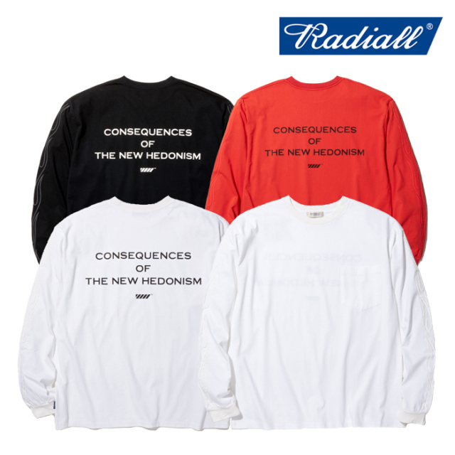 RADIALL(ラディアル) FLAMES - CREW NECK POCKET T-SHIRT L/S 【ロングスリーブTシャツ 長袖 ロンT】【2020 SPRING&SUMMER COLLECT
