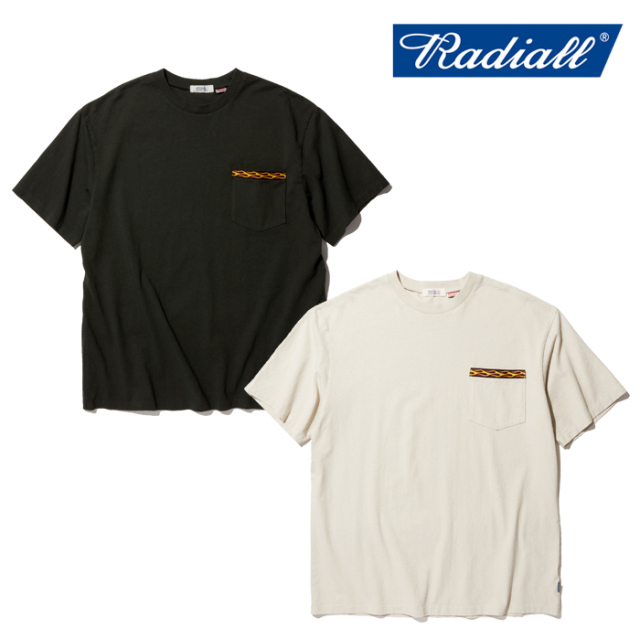 RADIALL(ラディアル) FLAMES - CREW NECK POCKET T-SHIRT S/S 【Tシャツ】【2020 SPRING&SUMMER COLLECTION】【RAD-20SS-CUT017】