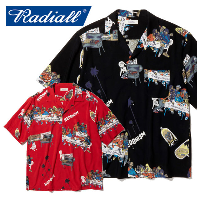RADIALL(ラディアル) BIBLE - OPEN COLLARED SHIRT S/S 【オープンシャツ 半袖】【2020 SPRING&SUMMER COLLECTION】【RAD-20SS-SH0