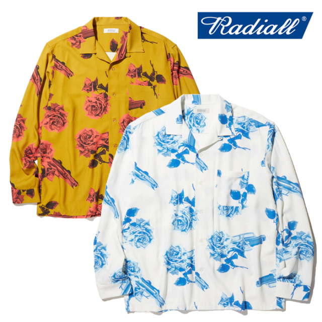 RADIALL(ラディアル) CHEVY ROSE - OPEN COLLARED SHIRT L/S 【レーヨン オープンカラーシャツ】【RAD-20SS-SH003】【2020 SPRING&