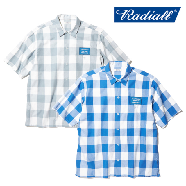 RADIALL(ラディアル) SYNDICATE - REGULAR COLLARED SHIRT S/S 【ワークシャツ】【RAD-20SS-SH013】【2020 SPRING&SUMMER COLLECTI