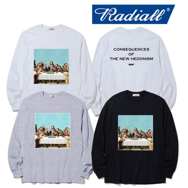 RADIALL(ラディアル) HEDONISM - CREW NECK T-SHIRT L/S 【ロングスリーブTシャツ】【2020年初売り限定アイテム】【RAD-19AW-SPOT-