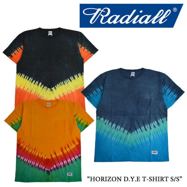 RADIALL(ラディアル) HORIZON D.Y.E T-SHIRT S/S 【2017 SUMMER SPOT 】 【即発送可能】 【RADIALL Tシャツ】 【RAD-17SS-SPOT-