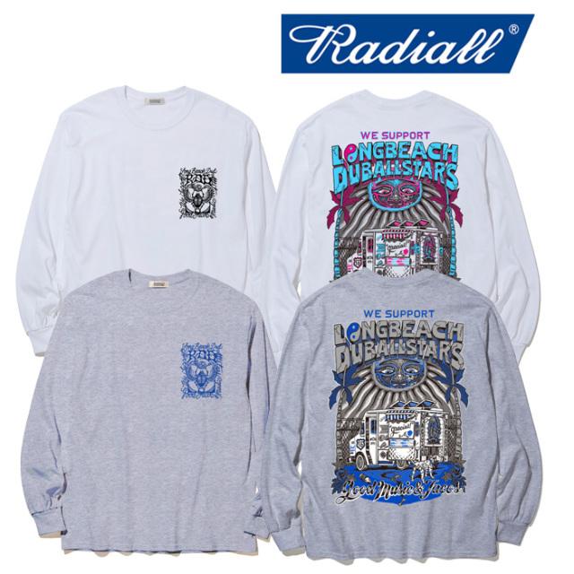 RADIALL(ラディアル) LONG BEACH - CREW NECK T-SHIRT L/S 【ロングスリーブTシャツ】【2020年初売り限定アイテム】【RAD-19AW-SPO