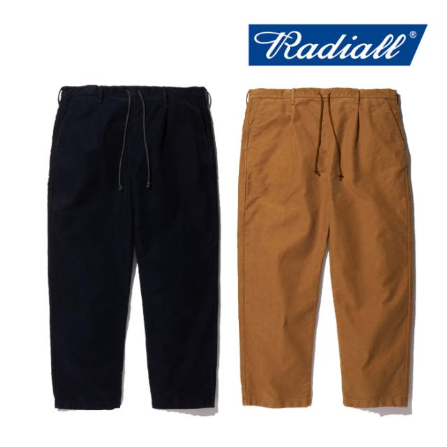 RADIALL(ラディアル) T.N. WIDE FIT EASY PANTS 【ワイドパンツ イージーパンツ】【モールスキン】【送料無料】【2019 AUTUMN&WINT