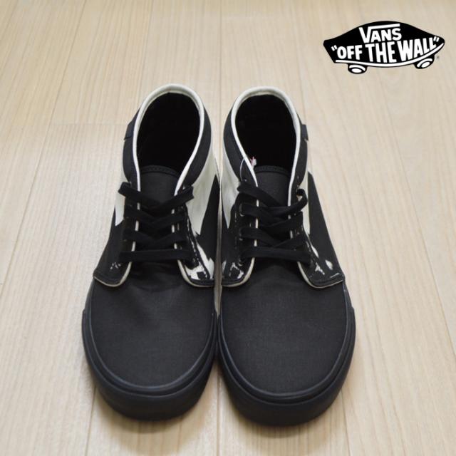 VANS(バンズ)(ヴァンズ) CHUKKA BOOT (Overprint) Black/Classic White 【VANS スニーカー】【チャッカ】 【VN000EGTV8P】
