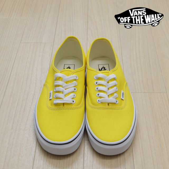 【VANS(バンズ)】 AUTHENTIC  Vibrant yellow/True White 【VANS スニーカー】【オーセンティック】【VN0A2Z5IFSX】