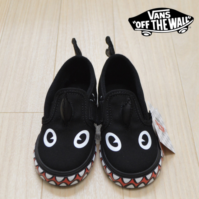 【VANS (バンズ)】 SLIP-ON V (SHRK WEEK)PHIN/BLACK 【VANS KIDS】【キッズ スリッポン】【VN0A3488V4H】