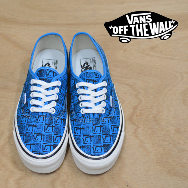 【VANS(バンズ)】 AUTHENTIC  44 DX  (ANAHEIM FACTORY) OG BRIGHT BLUE/SQUARE ROOT 【即発送可能】 【VANS スニーカー】【VN0A3