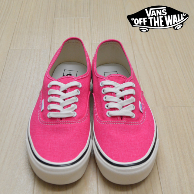 【VANS(バンズ)】 AUTHENTIC 44 DX (Anaheim Factory) OG Pink Neon 【VANS スニーカー】【オーセンティック】【VN0A38ENV7L】
