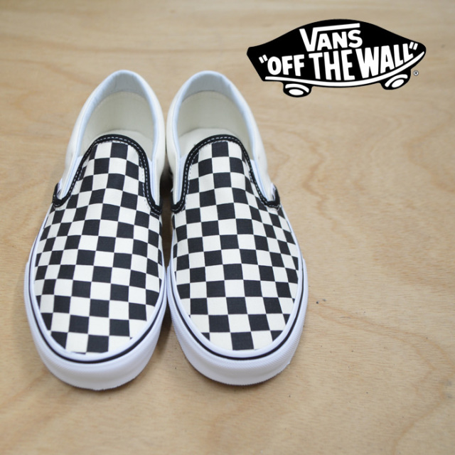 【VANS(バンズ)】 CLASSIC SLIP-ON (GUM BLOCK) CHECKERBOARD 【即発送可能】 【VANS スニーカー】【VN0A38F7U58】
