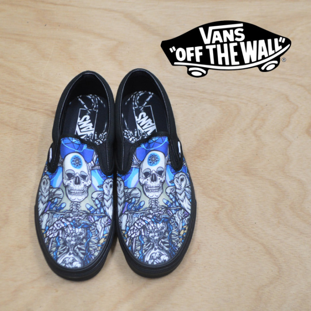 【VANS(バンズ)】 CLASSIC SLIP-ON BLACK(SCHOPH) 【VANS スニーカー】【スリッポン】【VN0A38F7U7U】
