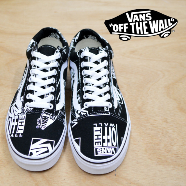 【VANS(バンズ)】 OLD SKOOL  (LOGO MIX) BLACK/TRUE 【即発送可能】 【VANS スニーカー】【VN0A38G1UA9】