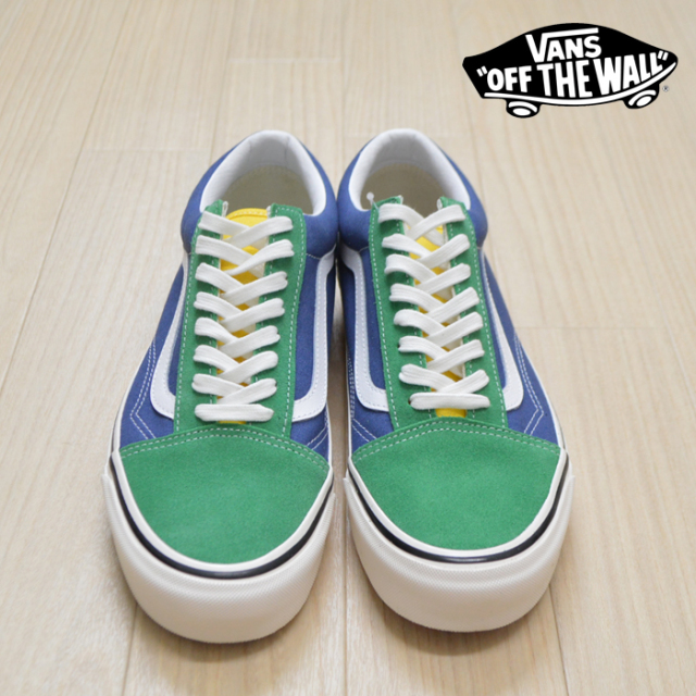 VANS(バンズ)(ヴァンズ) OLD SKOOL 36 DX (Anaheim Factory) OG Emerald/OG Navy 【VANS スニーカー】【オールドスクール】【VN0A3