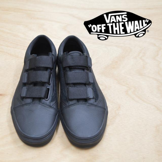 【VANS(バンズ)】 OLD SKOOL V(LEATHER ) BALLISTIC/BLACK 【VANS スニーカー】【オールドスクール】【VN0A3D29UB4】