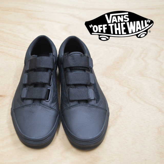 【VANS(バンズ)】 OLD SKOOL V(LEATHER ) BALLISTIC/BLACK 【VANS スニーカー】【オールドスクール】【VN0A3D29UB4】