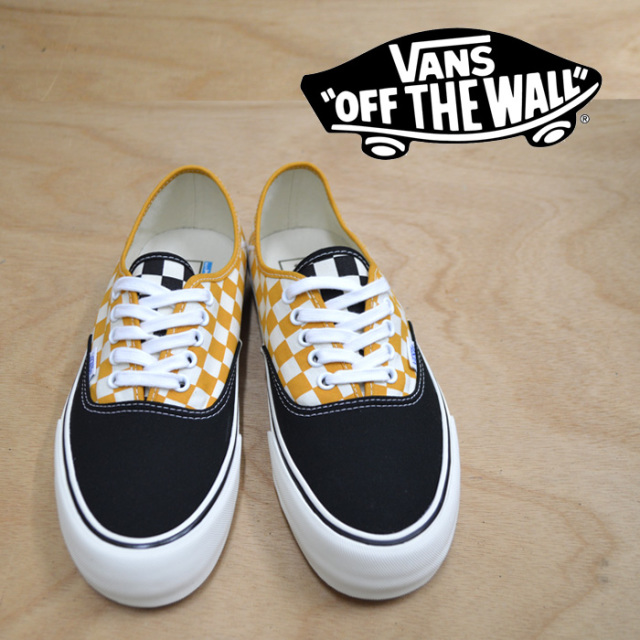 【VANS(バンズ)】 AUTHENTIC SF (SURF CHECK) BLACK/SUNFLOWER 【即発送可能】 【VANS スニーカー】 【VN0A3MU6U6T】