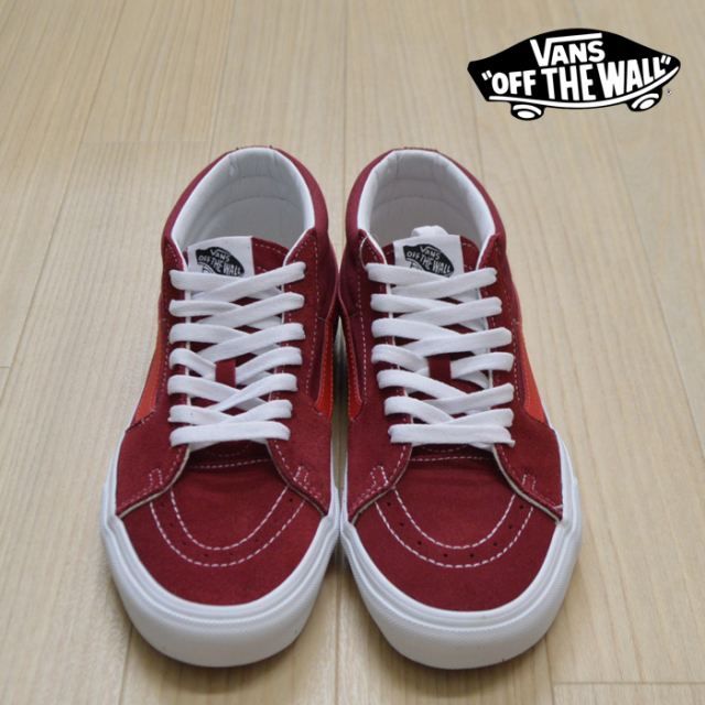 【VANS(バンズ)】 SK8-MID  (Retro Sport)BIKING RED/POINSETTIA 【VANS スニーカー】【スケハイ ミッド】【VN0A3WM3VXZ】