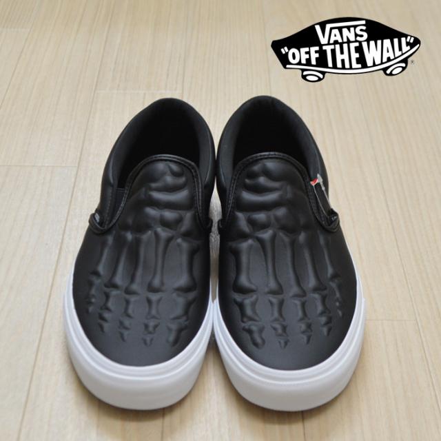 VANS(バンズ)(ヴァンズ) CLASSIC SLIP-ON (X-Ray Bones) Black/True White 【VANS スニーカー】【クラシックスリッポン】 【VN0A4