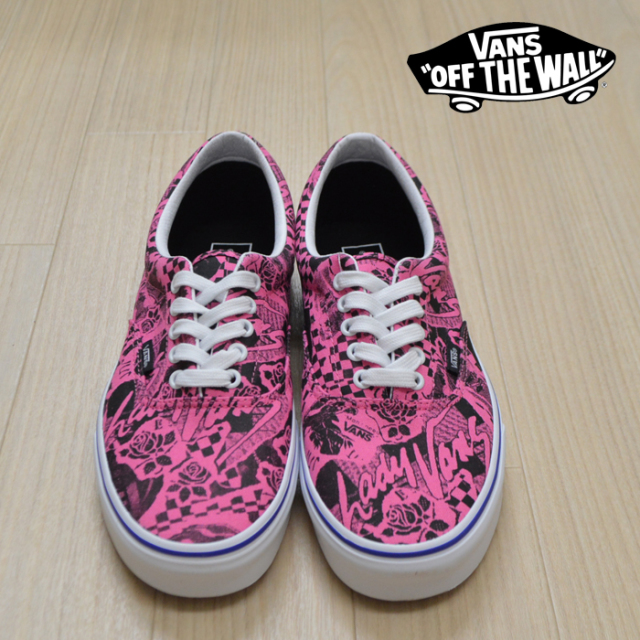 【VANS(バンズ)】 ERA (LADY VANS)AZALEA PINK/TRUE WHITE 【VANS スニーカー】【エラ】【VN0A4BV4VXR】