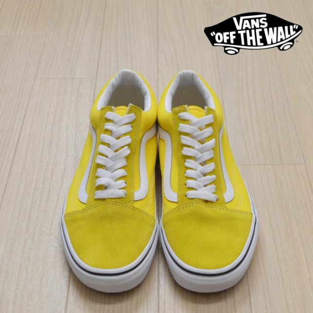 【VANS(バンズ)】 OLD SKOOL Vibrant Yellow/True White 【VANS スニーカー】【オールドスクール】【VN0A4BV5FSX】【メンズ レディ
