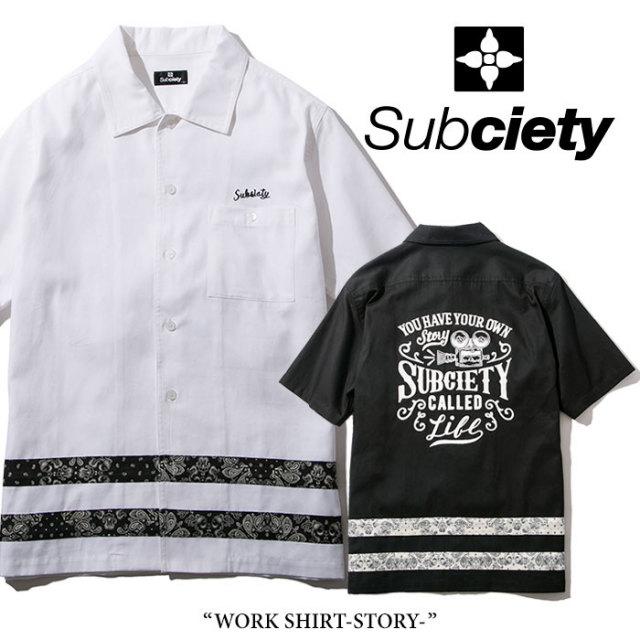 SUBCIETY(サブサエティ) WORK SHIRT-STORY- 【2018SPRING先行予約】 【送料無料】【キャンセル不可】 【SUBCIETY シャツ】【104-