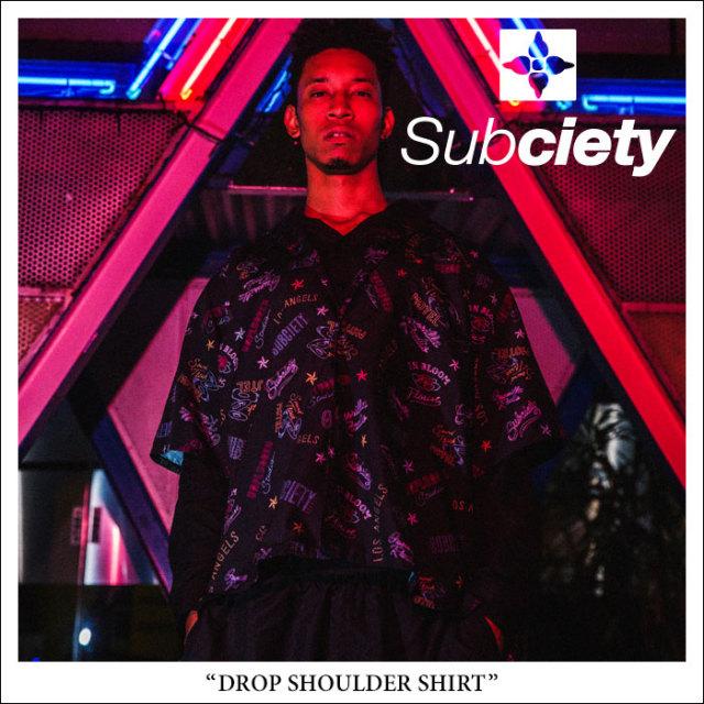 SUBCIETY(サブサエティ) DROP SHOULDER SHIRT 【2018SPRING先行予約】 【送料無料】【キャンセル不可】 【SUBCIETY シャツ】【10