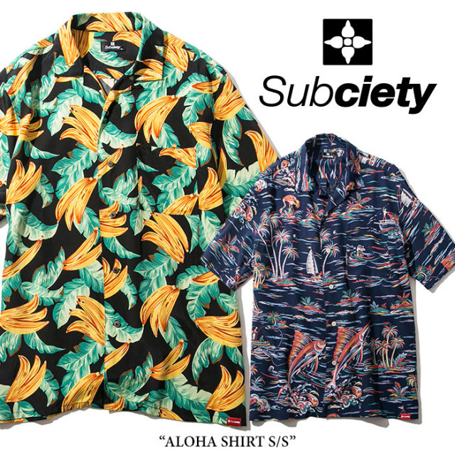 SUBCIETY(サブサエティ) ALOHA SHIRT S/S 【2018SPRING先行予約】 【送料無料】【キャンセル不可】 【SUBCIETY シャツ】【104-22