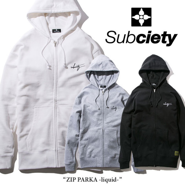 【SALE30%OFF】 SUBCIETY(サブサエティ) ZIP PARKA-liquid- 【2018SPRING新作】 【104-31199】