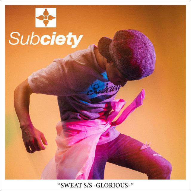 SUBCIETY(サブサエティ) SWEAT S/S-GLORIOUS- 【2018SPRING先行予約】 【キャンセル不可】 【SUBCIETY スウェット】【104-37201