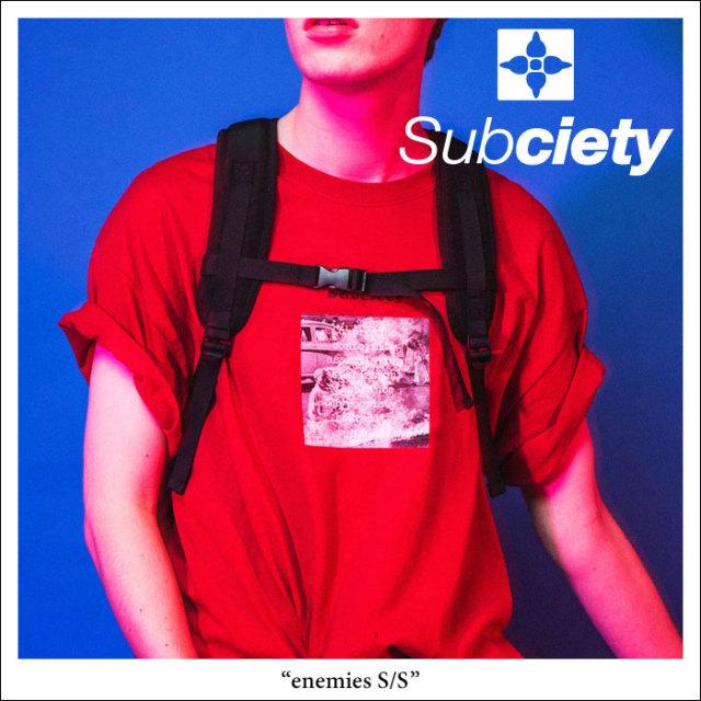 SUBCIETY(サブサエティ) enemies S/S 【2018SPRING先行予約】 【キャンセル不可】 【SUBCIETY Tシャツ】【104-40226】