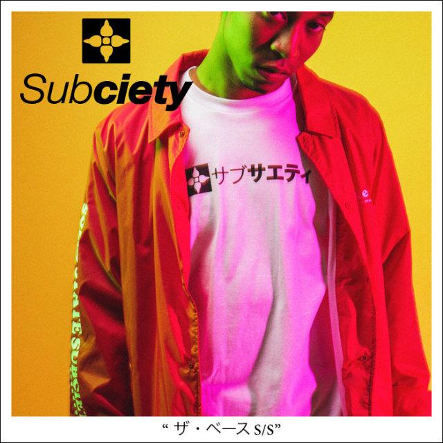 【SALE30%OFF】 SUBCIETY(サブサエティ) ザ・ベース S/S 【2018SPRING新作】【即発送可能】 【SUBCIETY Tシャツ】【104-40228】